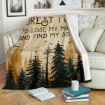 And Into The Forest Camping CLM02120083S Sherpa Fleece Blanket