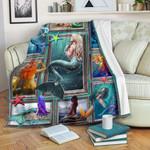 3D Mermaid CLM2412001S Sherpa Fleece Blanket
