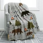 Bear Camping CLM2612089S Sherpa Fleece Blanket