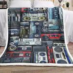 3d Audio Music HN260901F Sherpa Fleece Blanket
