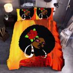 Black Girl And Roses GS-CL-LD0906 Bedding Set
