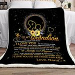 To My Grandson Nana GS-CL-LD2906 Sherpa Fleece Blanket