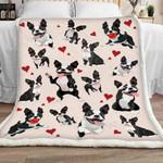 Boston Terrier Red Heart GS-CL-LD1401 Sherpa Fleece Blanket