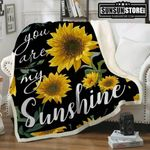You Are My Sunshine Sunflower GS-CL-LD2906 Sherpa Fleece Blanket