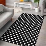 Polka Dot Black White Pattern Print Design 3 GS-CL-DT1305  Rug