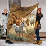 Amazing Horses Gifts For Retirement GS-CL-DT0903 Sherpa Fleece Blanket