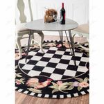 Moroccan Rooster GS-CL-DT2306 Round Carpet