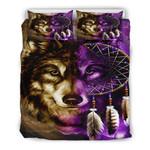 Purple Wolf Dreamcatcher Native American GS-CL-LD2105 Bedding Set
