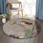 Bird Flower GS-CL-DT2404 Round Carpet