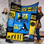 Live Love Volleyball GS-CL-DT2506 Sherpa Fleece Blanket