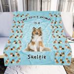 Sheltie Is My Spirit Animal GS-CL-QD2810 Sherpa Fleece Blanket