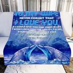 Dolphin To My Wife Never Forget That I Love You GS-CL-LD1911 Sherpa Fleece Blanket