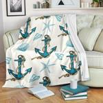 Anchor Shell Starfish Pattern GS-CL-DT1903 Sherpa Fleece Blanket
