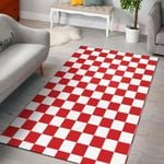 Checkered Red Pattern 4 GS-CL-DT1405  Rug