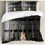 American Flag Us Bass Guitar Trendy Electronic Rock Music Digital Graphic Work GS-CL-DT1706 Bedding Set