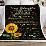 Goddaughter I'll Always Be With You GS-CL-DT1610 Sherpa Fleece Blanket