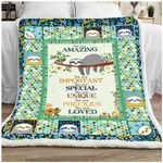 Sloth You Are Amazing GS-CL-DT1610 Sherpa Fleece Blanket