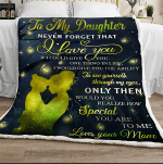 Fireflies To My Daughter I Love You GS-CL-DT1101 Sherpa Fleece Blanket