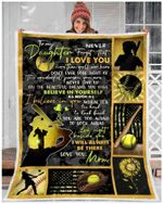 Softball To My Daughter I'll Always Be There GS-CL-DT1810 Sherpa Fleece Blanket