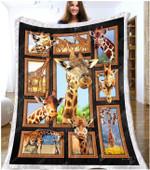 Giraffe Cute Giraffes GS-CL-ML1211 Sherpa Fleece Blanket