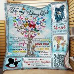 Butterfly To My Daughter Enjoy The Ride And Never Forget Your Way Back Home GS-CL-LD2506 Quilt Blanket