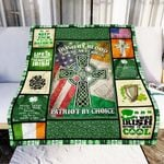 Irish By Blood American By Birth GS-CL-NT0611 Sherpa Fleece Blanket