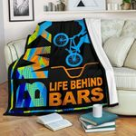 Bmx Life Behind Bars GS-CL-DT0104 Sherpa Fleece Blanket