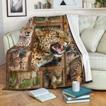 Cheetah GS-CL-ML2004 Sherpa Fleece Blanket