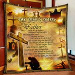 The Lord's Prayer God Jesus Christian Cross GS-CL-LD2506 Quilt Blanket