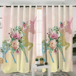 Unicorn Eyelash GS-CL-DT1004 Blackout Thermal Grommet Window Curtains