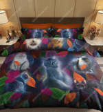 Finding Cats On Forest Leaf DTC2111927 Bedding Set