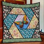 Butterfly Flowers DTC2311798 Quilt Blanket