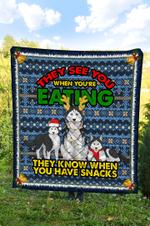 Siberian Husky DTC2311714 Quilt Blanket