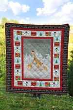 Giraffe Christmas DTC2311751 Quilt Blanket