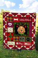 Golden Retriever Christmas DTC2311748 Quilt Blanket