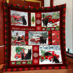 Black Cat Christmas REd t DTC2311813 Quilt Blanket