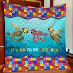 Turtle Autism DTC2311707 Quilt Blanket