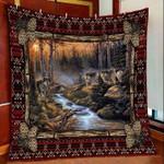 Wolf Night DTC2311703 Quilt Blanket