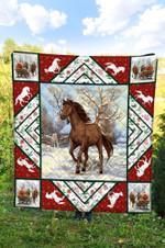 Horse Christmas DTC2311737 Quilt Blanket