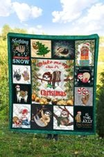 Sloth Christmas DTC2311713 Quilt Blanket