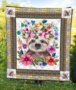 Sloth Flowers DTC2311710 Quilt Blanket