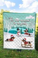 Dachshund Christmas DTC2311766 Quilt Blanket