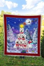 West Highland White Terrier Christmas DTC2311705 Quilt Blanket