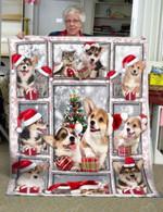 Corgi Cat Christmas DAC231104 Fleece Blanket