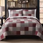 Red Fawn Patchwork DAC231133 Bedding Set