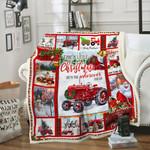 Tractor Farm Christmas DAC231106 Fleece Blanket