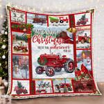 Tractor Farm Christmas DAC231103 Quilt Blanket