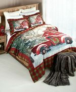 Red Truck Farm Christmas DAC231137 Bedding Set