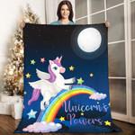 Unicorn AAA231101TA Sherpa Fleece Blanket