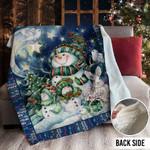 Snowman Christmas MMM231101MI Sherpa Fleece Blanket